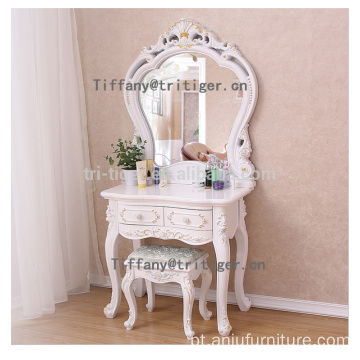 White color make up dresser modern dresser