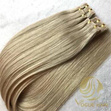Remy cuticle PU  tape hair extensions