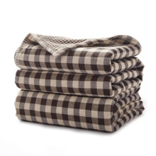 Plaid Reusable Airline Modacrylic Blanket For Travel