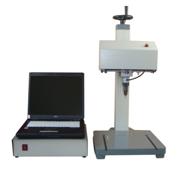 desktop Touch Screen Metal Dot Peen Marking Machine With Rotary