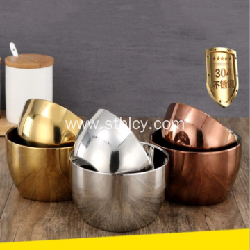 Thickened Stainless Steel Double Layer Insulated Bowl