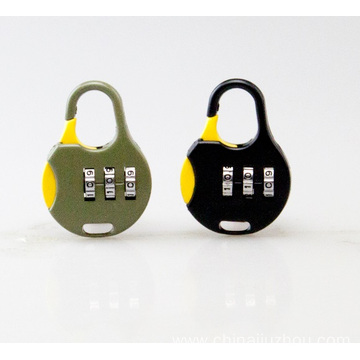 Zinc Alloy Colorful Combination School Bag Padlock