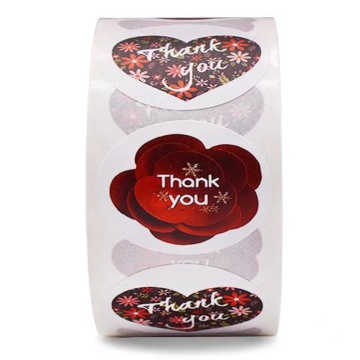Thank  you greeting sticker labels