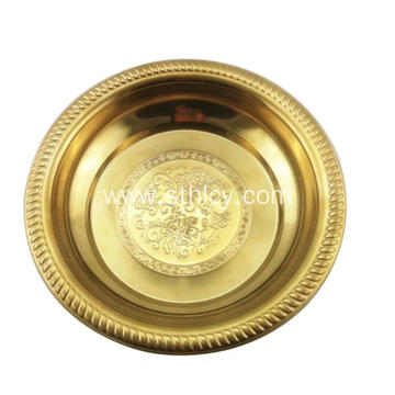 Gold Wedding Stainless Steel Plate Metal Plate