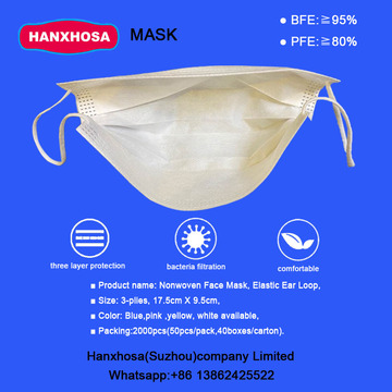 Nonwoven Face Mask Elastic Ear Loop