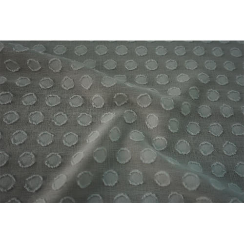 Polyester Polka Dot Burn Out Clip Jacquard Fabric
