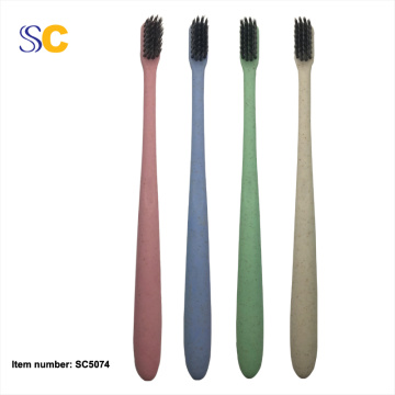 Wheat Straw Charcoal Small Head Soft Adult Toothbrush