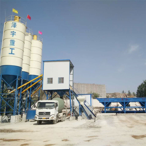 HZS75 electric hopper construction concrete batching plant