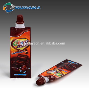 Package 8.2mm Spout Liquid Chocolate Cream Packaging Pouch