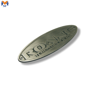 Custom metal embossed logo for bag