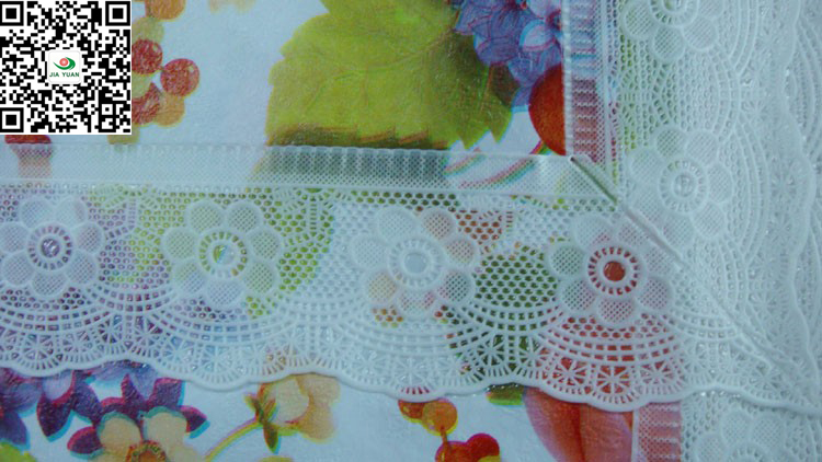 Pvc Table Covers Lace Edge