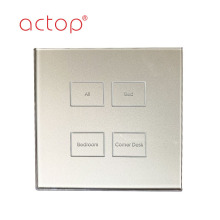 Four gang Hotel Smart Electrical Wall Touch Switch