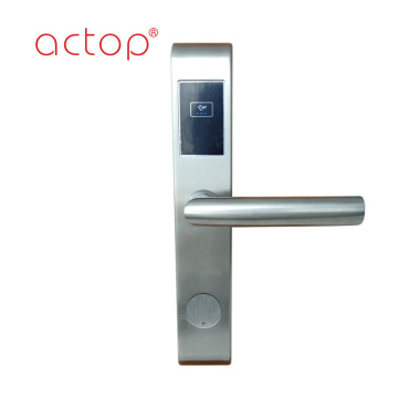 Smart hotel lock door with stainless steel
