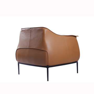 Modern Archibald Leather Accent Chair Replica