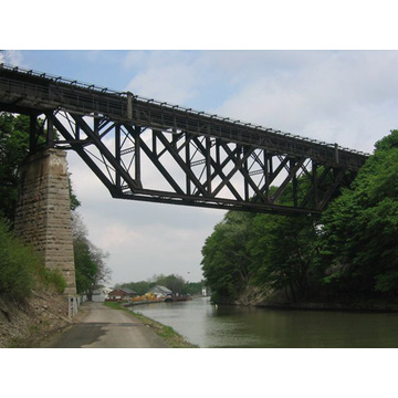 Truss Steel Metal Structures Bridge Prefabrication
