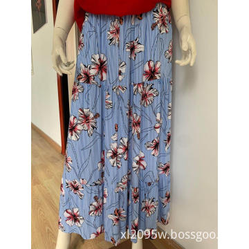 Women's casual printed fashion skirt