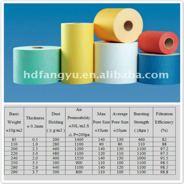 Non woven Fabric for Auto Filter