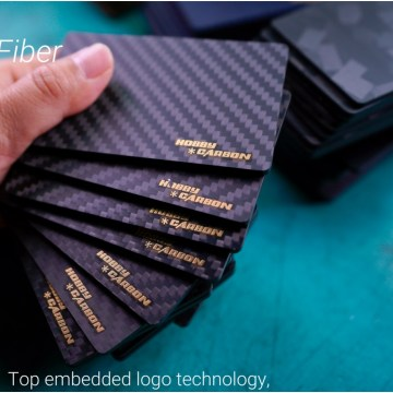 3K CNC carbon fiber name card design holder