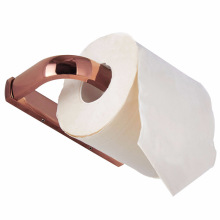 Rose gold paper towel holder simple brass material paper roll toilet bathroom hardware pendant