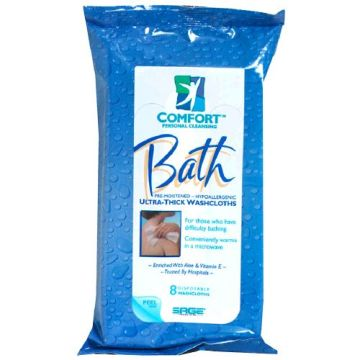 Wholesale Big Size Medical Adult Patient Bath Wipes To Cleaning Full Body
