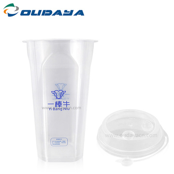 good quality 16oz Transparent juice Beverage plastic cup