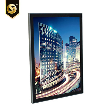 Silver Gold frame double sided LED movie poster