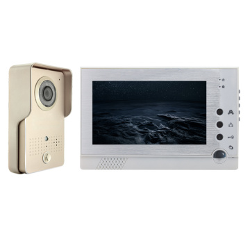 7-inch color wired video intercom security system for home
