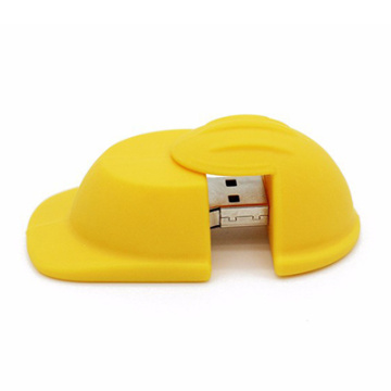 PVC Rubber Hat USB Flash Drive