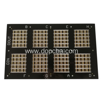 No Silkscreen Small Black Led PCB Assembly