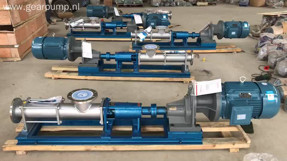 Electric fluid fuel oil transfer single screw worm pump price