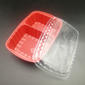 Disposable rectangular takeaway blister packaging sushi tray