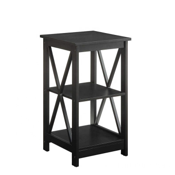 Wooden Black modern bedside table