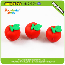 Kids Cute 3D apple shaped rubber stationery aeraser