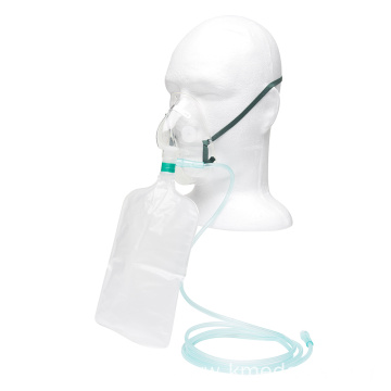 high concentration oxygen mask with non-rebreathing bag