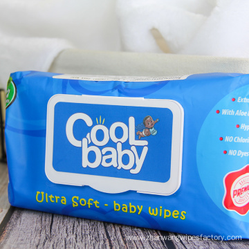 Disposable Unscented Sensitive Skin Hand Mouth Baby Wipes