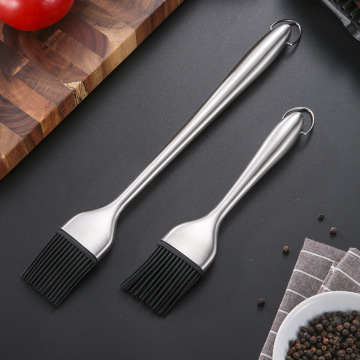 Food Grade Kitchen 304 Stainless Steel Silicone Brush