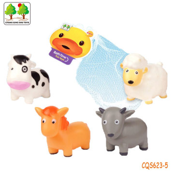 CQS623-5 CQS soft animals 4PCS with BB sound