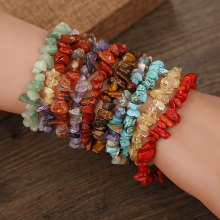Irregular Natural Crystals Chakras Stone Aventurine Bracelet Beads Pink Quartz Amethysts for Jewelry Making DIY Bracelet