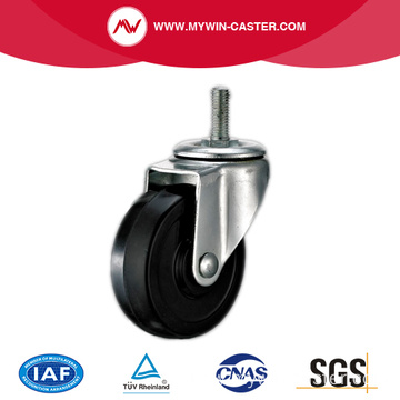 Threaded Stem Swivel Black Rubber Industrial Caster