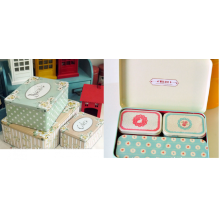 Tinplate for personalized decorative boxes