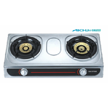 S.S Table Gas Stove 2 Burners