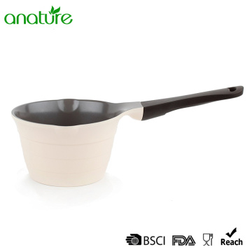 White Die-Cast Non-stick Mini Sauce Pot