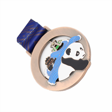 Custom made metal panda tourism medal