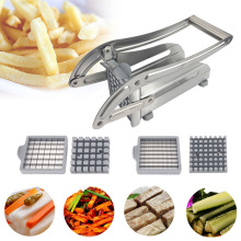 4 Blades Stainless Steel Home French Fries Potato Chips Strip Slicer Cutter Chopper Chips Machine Making Tool Potato Cut Fries
