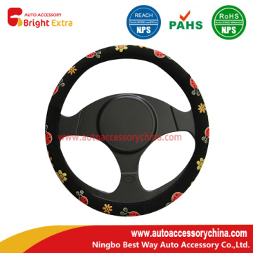 Cute Girly Steering Wheel Cover Ladybugs