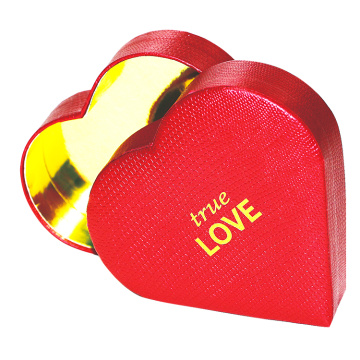 Customized Logo Printed Heart shape box