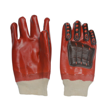 Anti-impact pvc dipped gloves