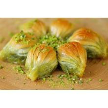 Mussel Shape Baklava (Gulluoglu's most famous) with pistachio 5 pcs 0.55lb-250 gr.