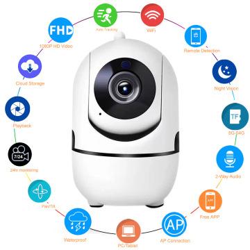 1080P Security Camera CCTV 360 Home Surveillance WiFi Camera Two Way Audio Baby / PET / Nanny Monitor 720P Indoor Kamera IP Cam