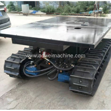 Rc control Rubber track electric chassis from 0.5T to 20t undercarriage for excavator loader Farms bocat wetland